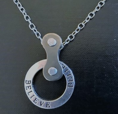 bicycle necklace believe